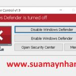 Windows Defender Control v1.6 v1.9 – Vô Hiệu Hóa Windows Defender